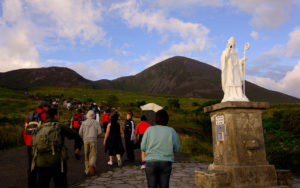 Croagh Patrick is a traditional pilgrimage site linked to Saint Patrick in County Mayo, Ireland, all photos courtesy Tourism Ireland